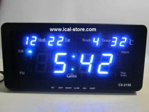 Jam Dinding Digital LED Tipe 2158 Biru