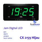 Jam Dinding Digital LED Tipe 2159 Hijau