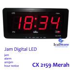 Jam Dinding Digital LED Tipe 2159 Merah