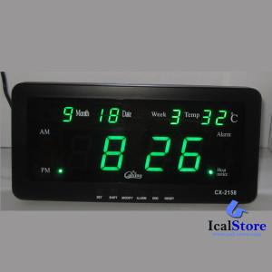 Jam Dinding Digital LED Tipe 2158 Hijau