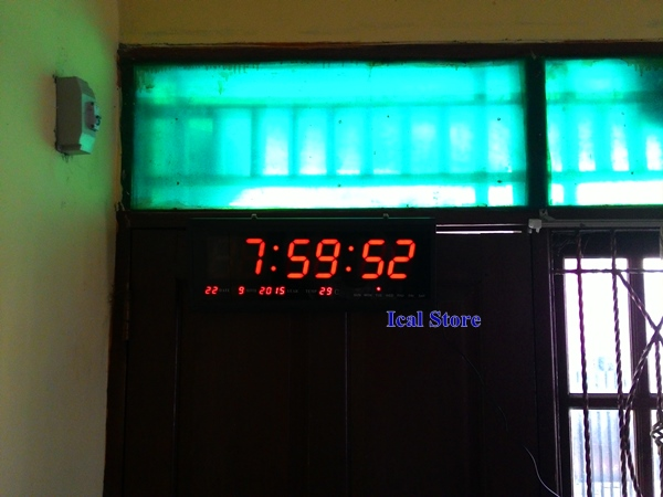 jam dinding digital led besar hotai ht 4819 sm 1