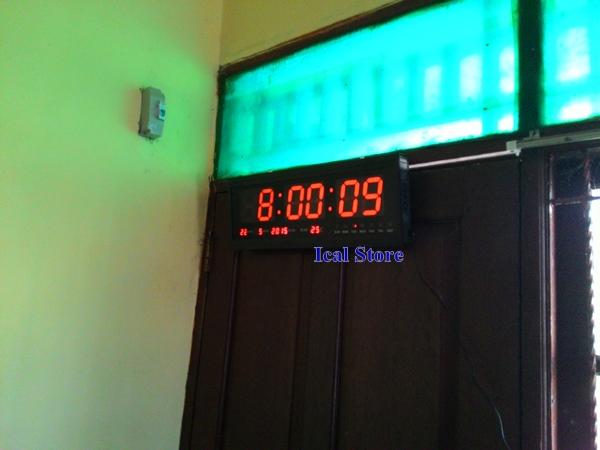 jam dinding digital led besar hotai ht 4819 sm 2