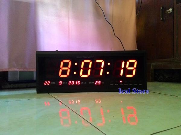 jam dinding digital led besar hotai ht 4819 sm 3