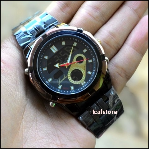 Jam Tangan Lasebo LSB-965 Black Gold Original - Ical Store - Ical Store d86278842e