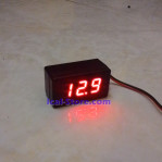 Mini DC Voltmeter LED Casing Waterproof