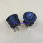 Saklar Switch Bulat Hitam 2 Pin
