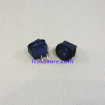 Saklar Switch Bulat Hitam (Mini) 2 Pin