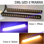 Lampu DRL LED 2 (Dua) Warna Putih Kuning