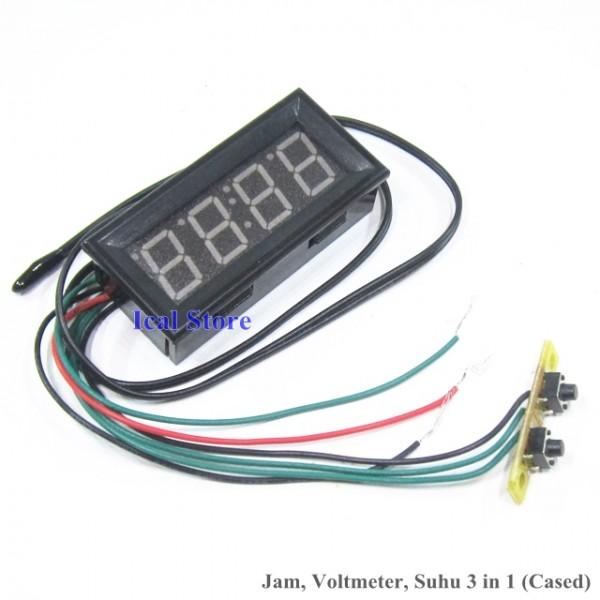 Jam Mini Cased 3 in 1 (Jam, Voltmeter, Termometer) 2