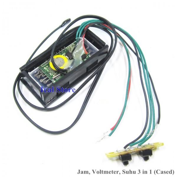 Jam Mini Cased 3 in 1 (Jam, Voltmeter, Termometer) 3