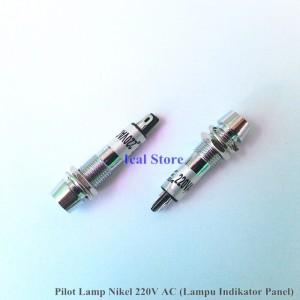 Pilot Lamp – Lampu Indikator Panel AC 220V Nikel