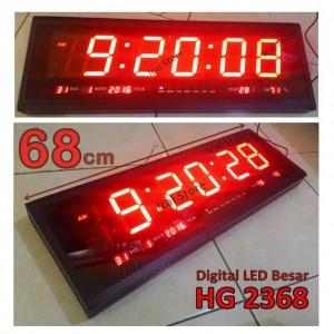 Jam Dinding Digital LED Besar HG 2368 (Panjang 68 cm)