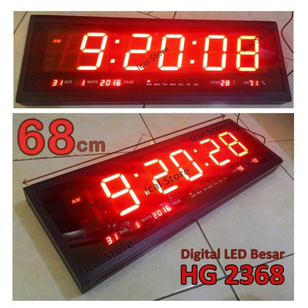 jam dinding digital led hg 2368