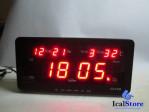 Jam Dinding Digital LED Tipe 2158 Merah