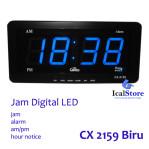 Jam Dinding Digital LED Tipe 2159 Biru